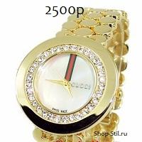 Женские позолоченные часы Гучи