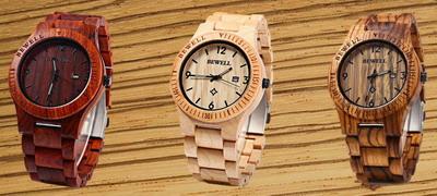 наручные часы из дерева